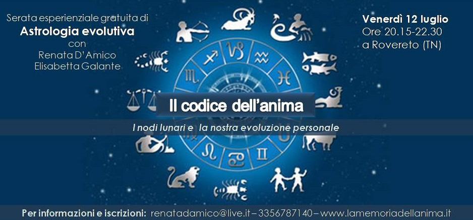 Serata gratuita di Astrologia evolutiva